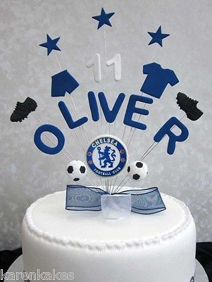 Personalised Chelsea Football Birthday Cake Topper Any Name And Age Hand Crafted Items C Birthday Cake Toppers Football Birthday Cake Chelsea Football Cake