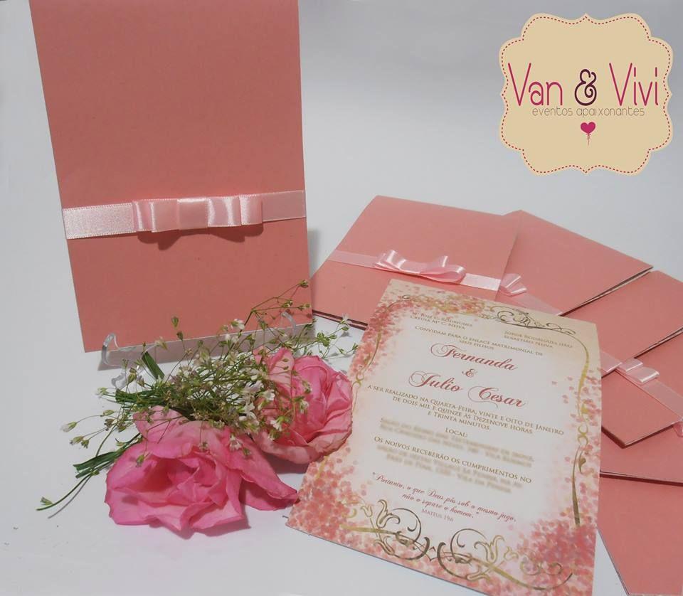 Convite com laço chanel - Van&Vivi Eventos