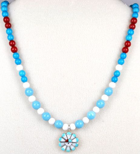 Zuni Indian Inlay Pendant Necklaces Page 2