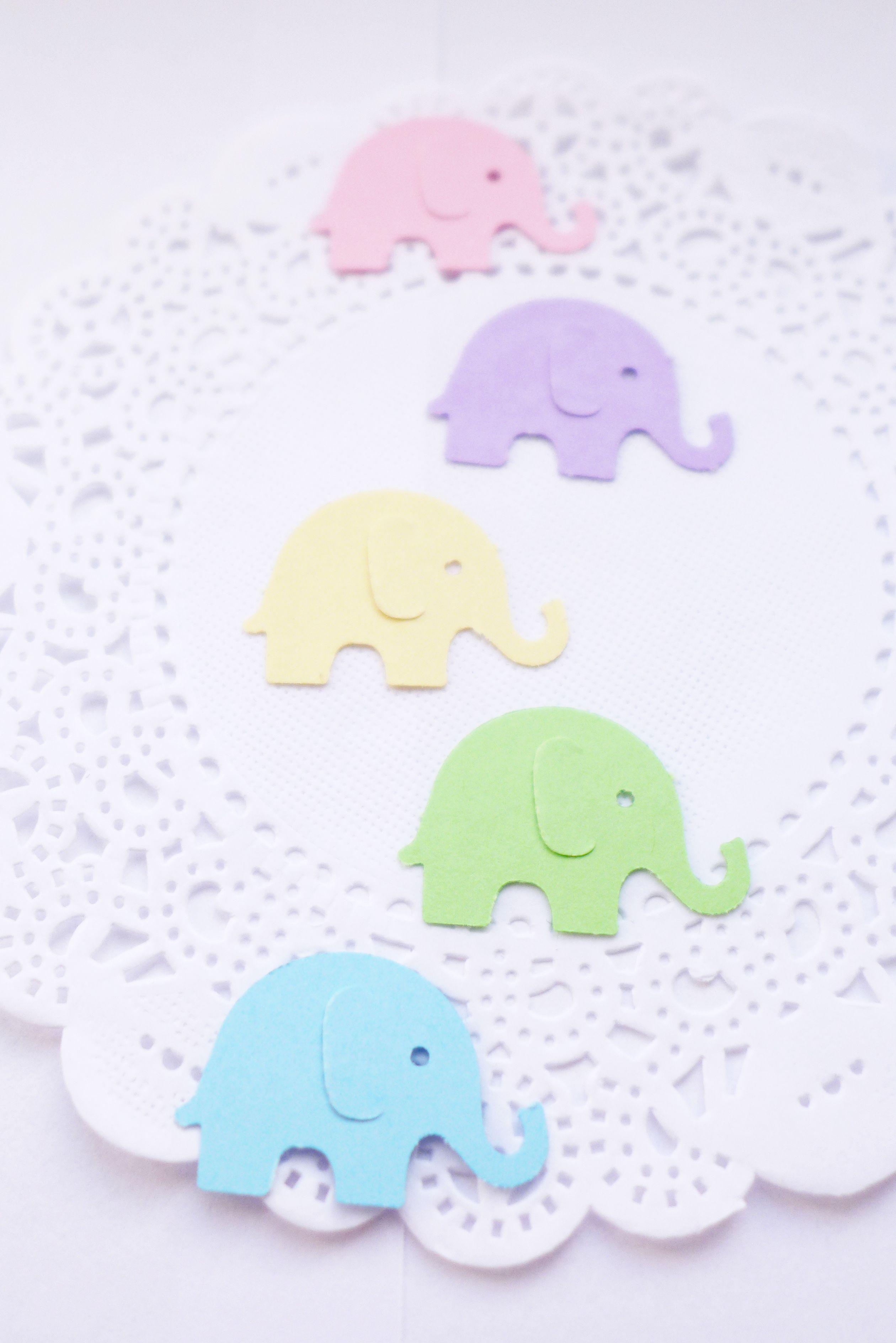 Elephant Pastel Colors Confetti By Athenascraftroom On Etsy #Elephant #