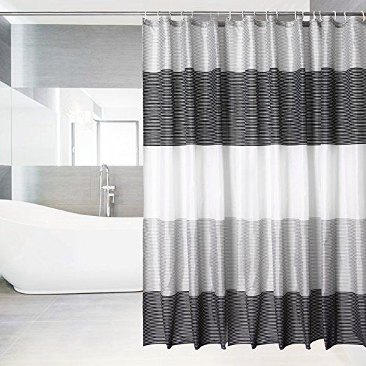 Shower Curtain Liner Mildew Resistant With 12 Curtain Hooks Waterproof Fabric Shower Curtain Standard Shower Curtain For Bathroom Fabric Shower Curtains Bathroom Curtains Waterproof Fabric
