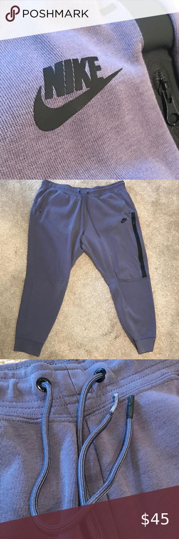 Nike Tech Fleece, Plus Size, Blue/Grey These sweatpants
