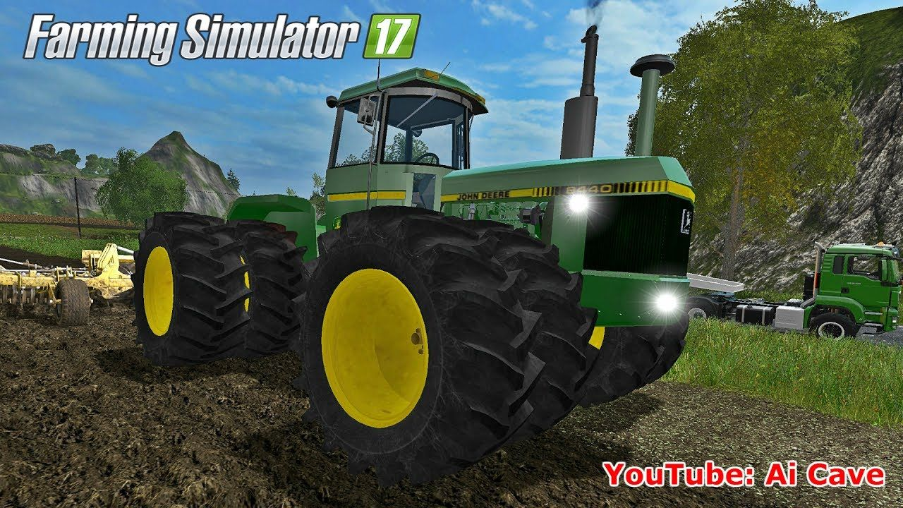 Farming Simulator 2017 Mods: Tractor JOHN DEERE 8400 and MAN