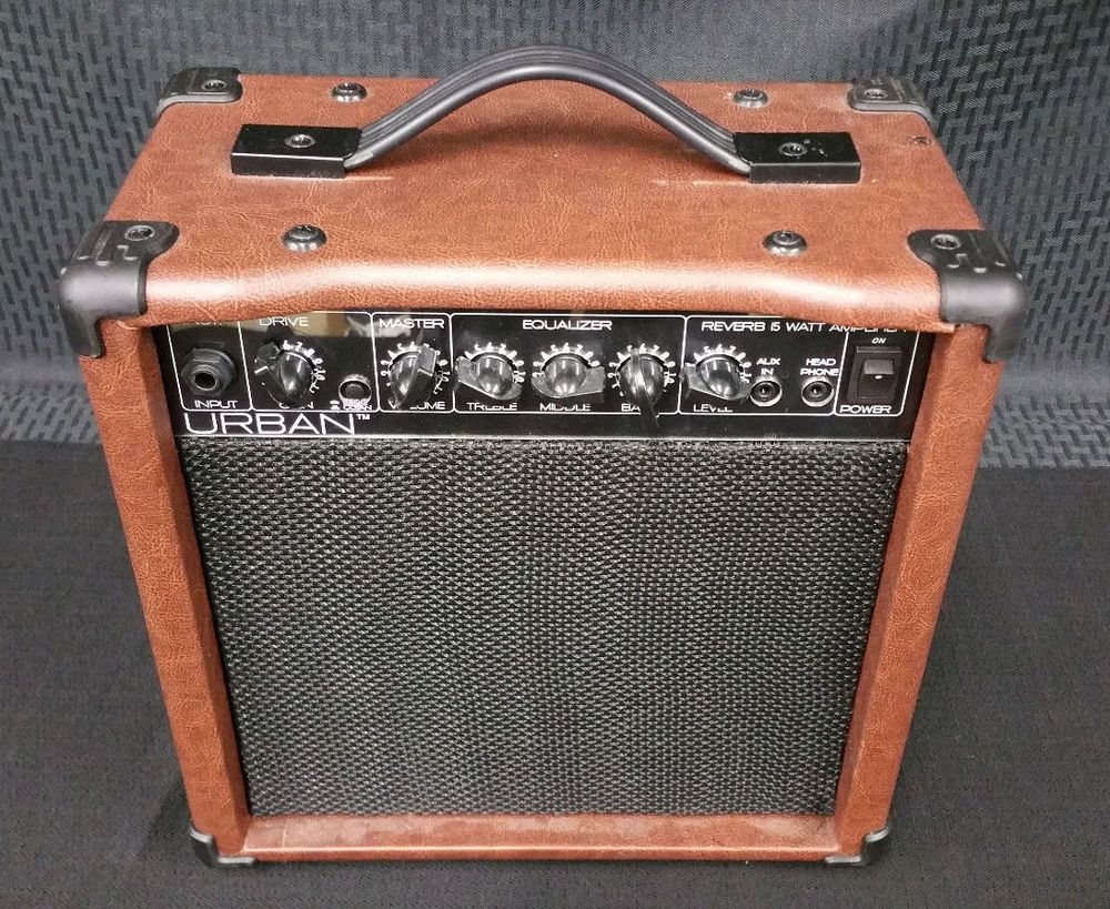 Details about Urban KU-28 Brown Leather Guitar Amplifier with Reverb