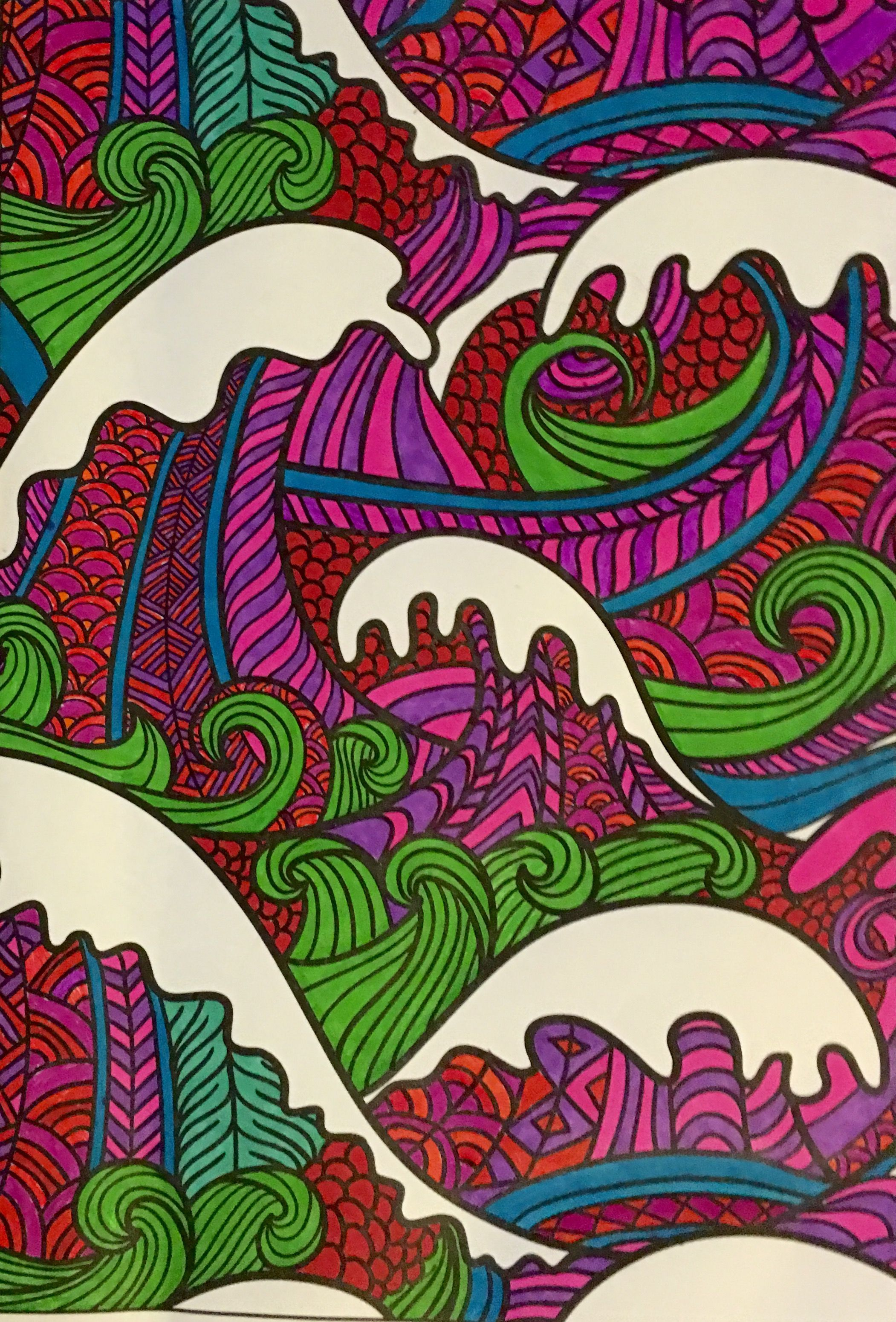 From Mandala Coloring Book Colored With Sharpie Markers By Judy Soto