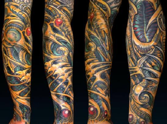 aaron cain 39 s unique brand of stylized biomech wild ink pinterest tattoo biomechanical. Black Bedroom Furniture Sets. Home Design Ideas
