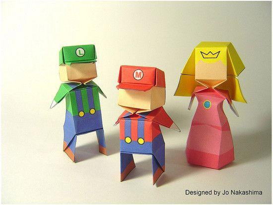 Origamis Mario Luigi princess