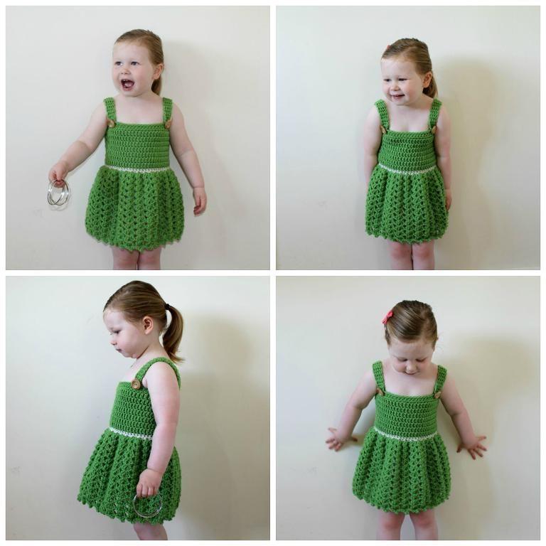 Crochet Shell Dress 1-2 Years - PDF29 | Ropa de niñas, Ganchillo y Hilo