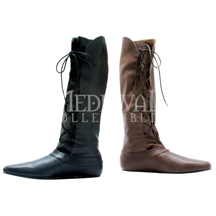 931c5db9f3b Mens Laced Up Renaissance Boots - FW1046 by Medieval Collectibles - sale   75 6 7 16