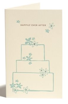 Letterpress Faltkarte 'Happily ever after' von Snow & Graham, mit Couvert