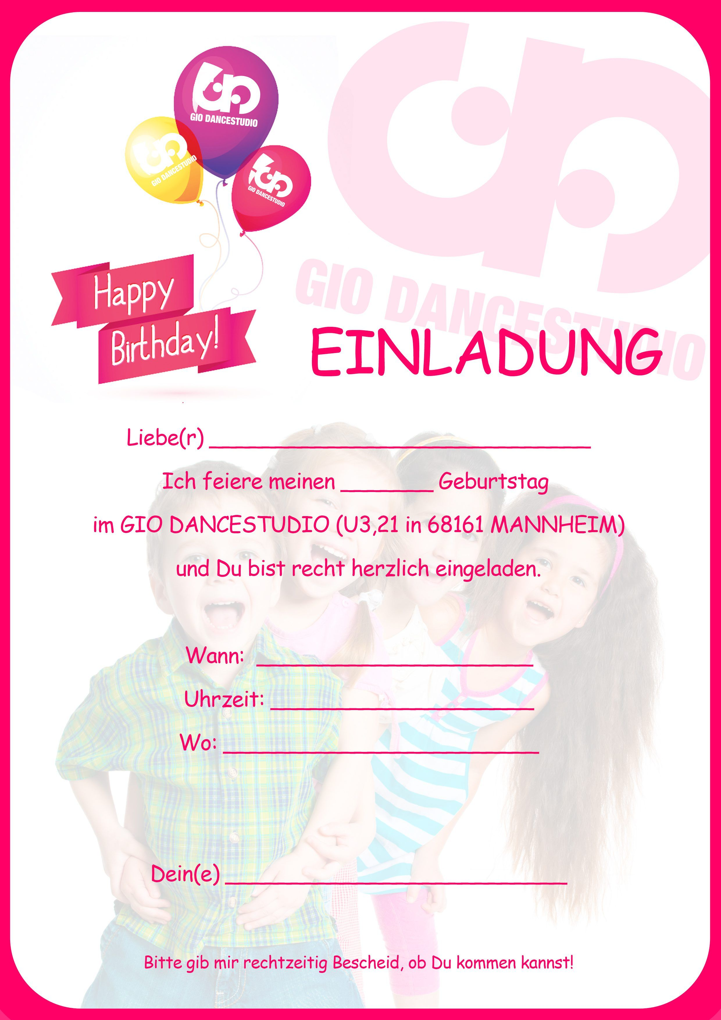 Einladungskarte Kindergeburtstag : Einladungskarte Kindergeburtstag ...