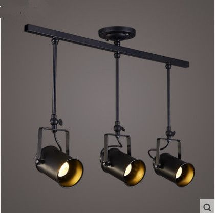 industrial track lighting systems. LED Spotlights American Industrial Corridor Bar Clothing Store Aisle Chandelier Lights Hall Cob Track Light Lighting Systems T