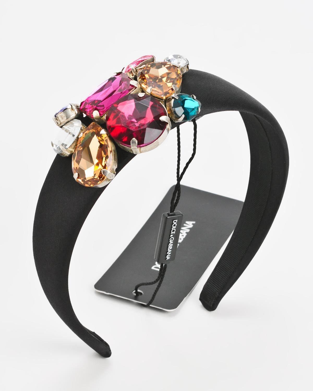Dolce & Gabbana Jeweled Silk Headband - Made In Italy @ Favbuy -