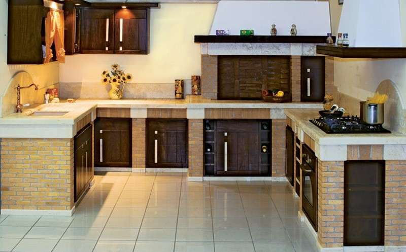 Cucine in muratura rustiche e moderne nel 2019 tavernetta for Decorazioni cucine moderne
