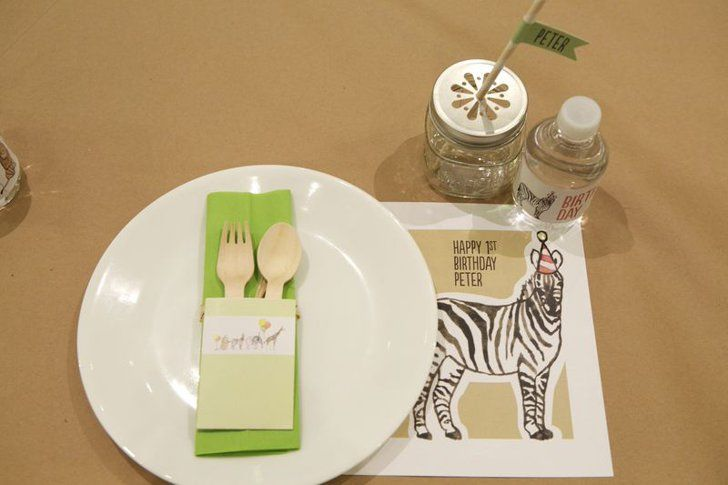 Pin for Later: Animals on Parade! Peter's Supersweet First Birthday Party Sweet Setting