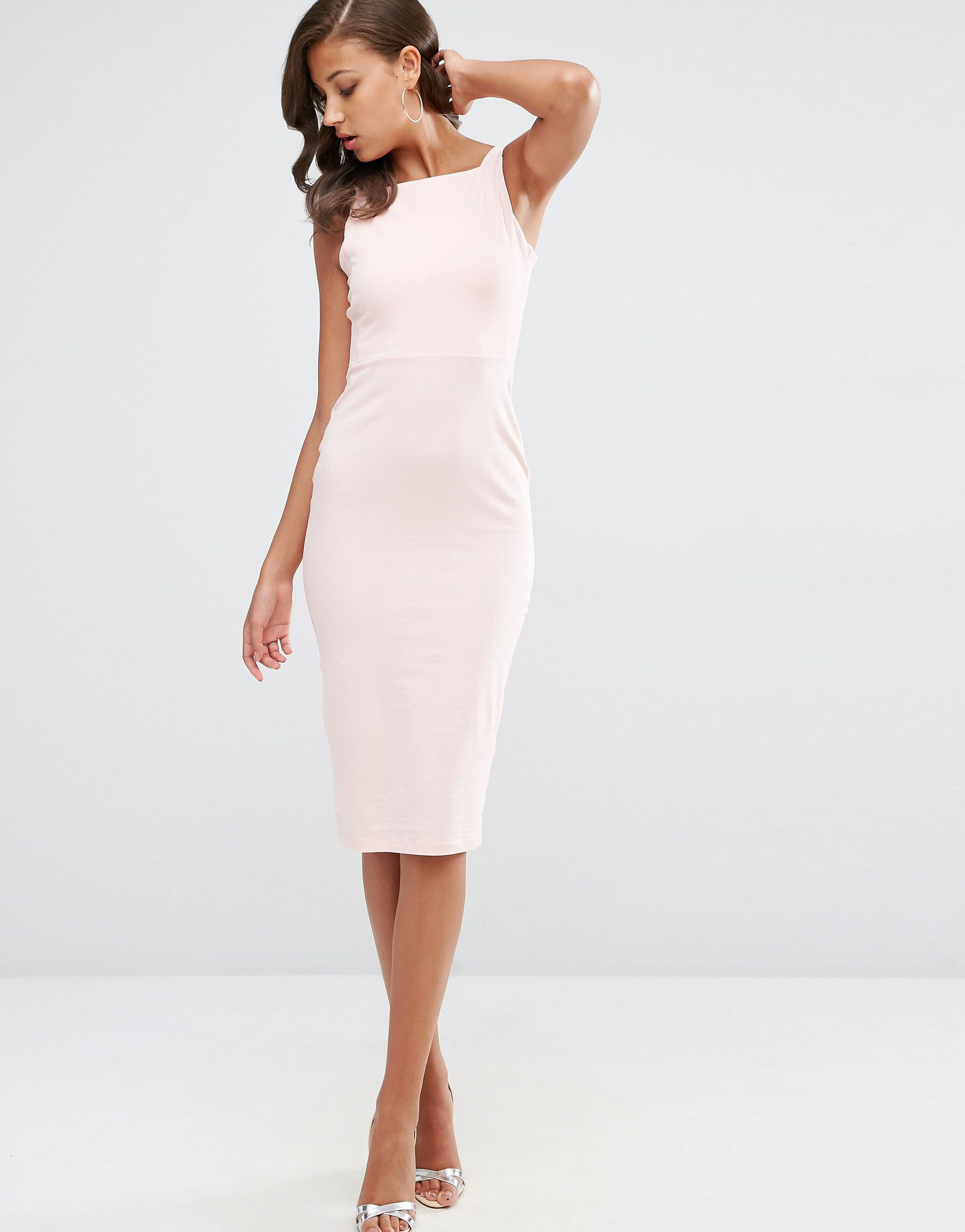 37318a40f730 us.asos.com ---- asos-tall-strap-back-pini-bodycon-midi-dress-nude ...