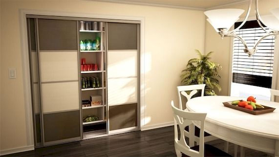 Pantry Organization Miami Sliding closet doors, Closet