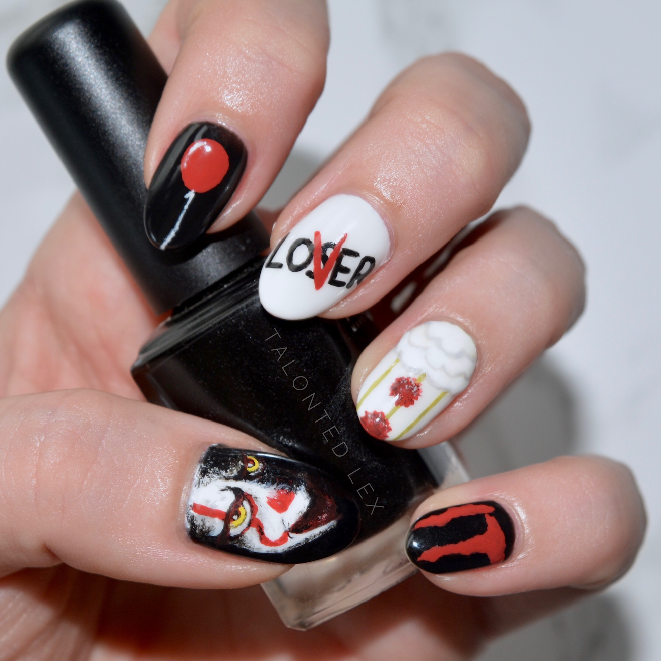 We All Float: It Nail Art | Makeup & Fashion | Pinterest | Painted ...