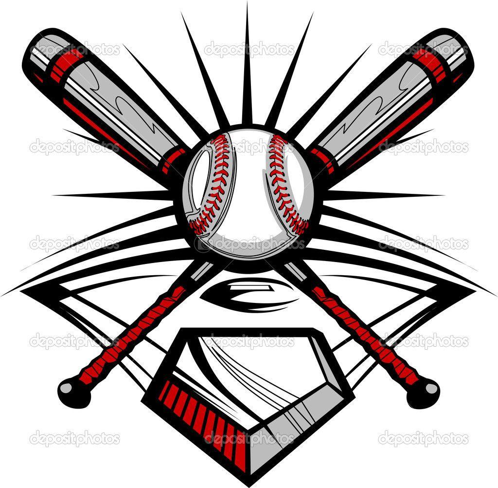 softball with flames clip art baseball or softball crossed bats rh pinterest com Ball and Crossed Bats Baseball Clip Art Baseball Bat and Ball Clip Art Black and White