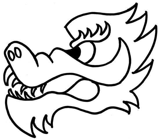 How to draw a simple dragon face