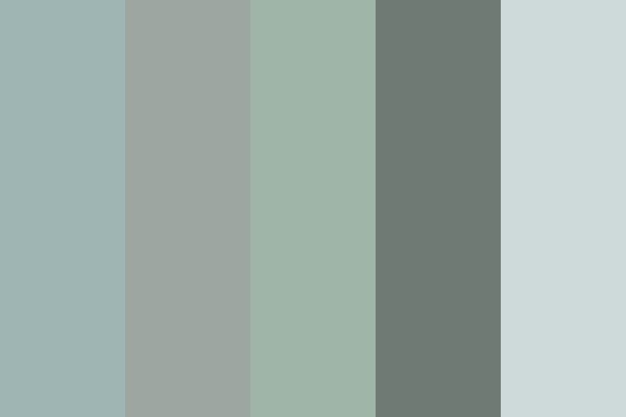 muted green/blue/grey Color Palette   Blue gray paint ...  Muted Blue Grey Paint Color