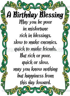 Pin by Denise DiLeo on Happy Birthday | Irish birthday