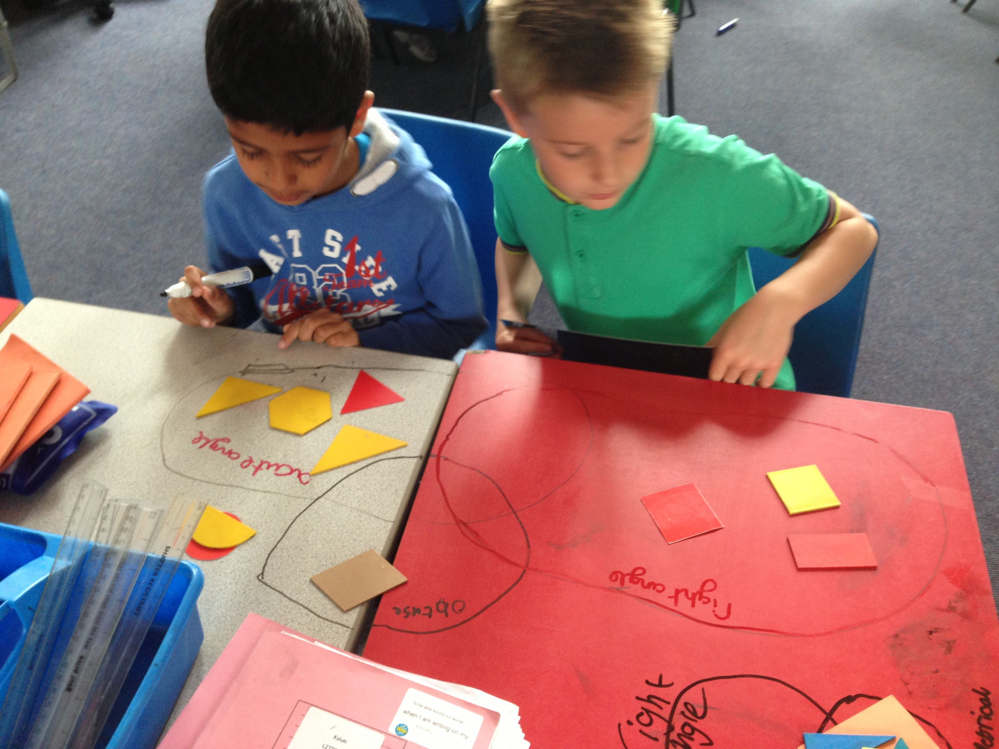 Wrote On Tables Lesson Sorting And Classifying Shapes Far