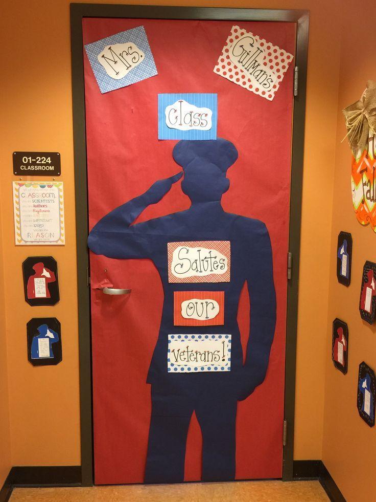Veterans Day Classroom Door Decoration Door Decorations Classroom School Door Decorations Door Decorations