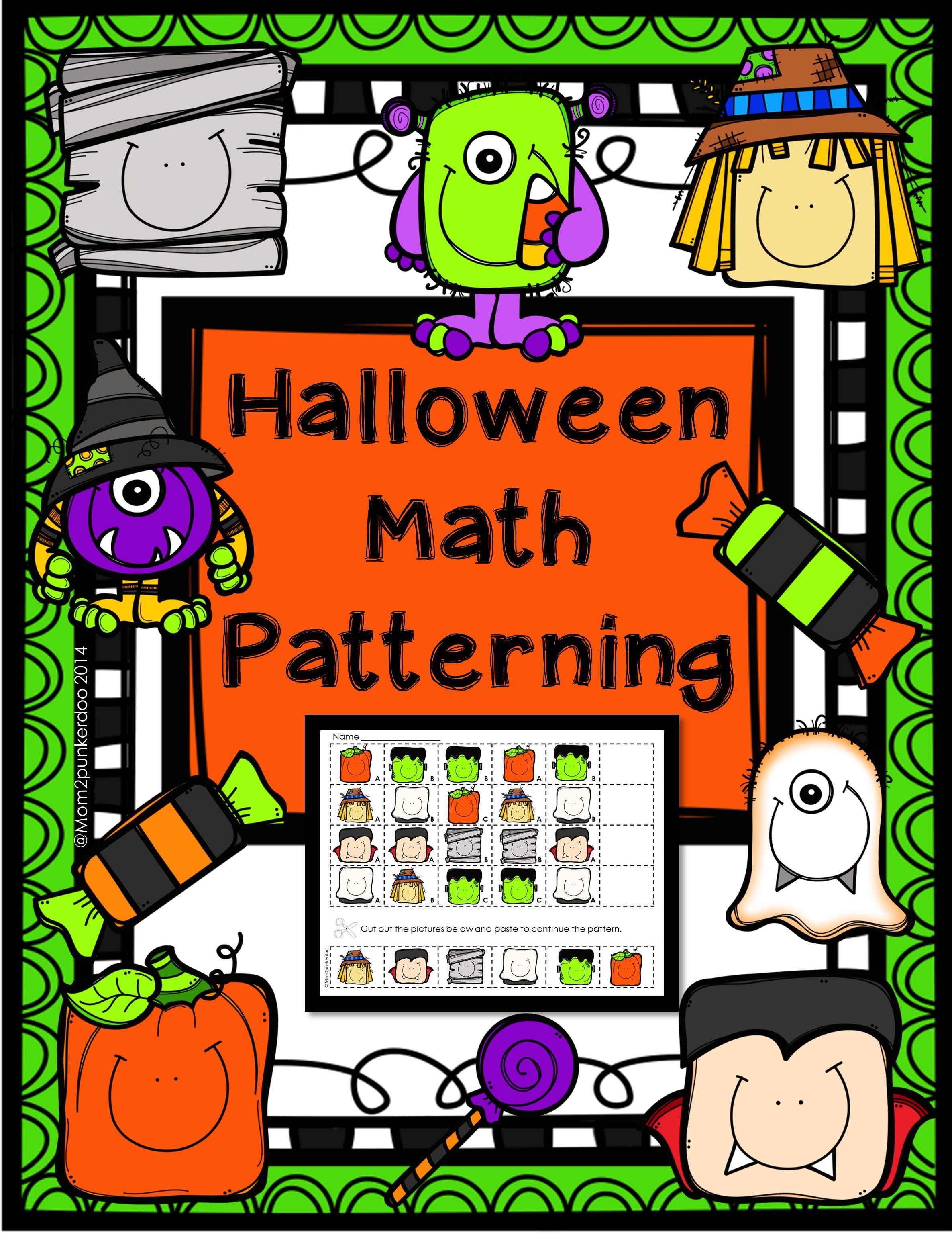 Halloween Math Patterning Halloween math, Math patterns