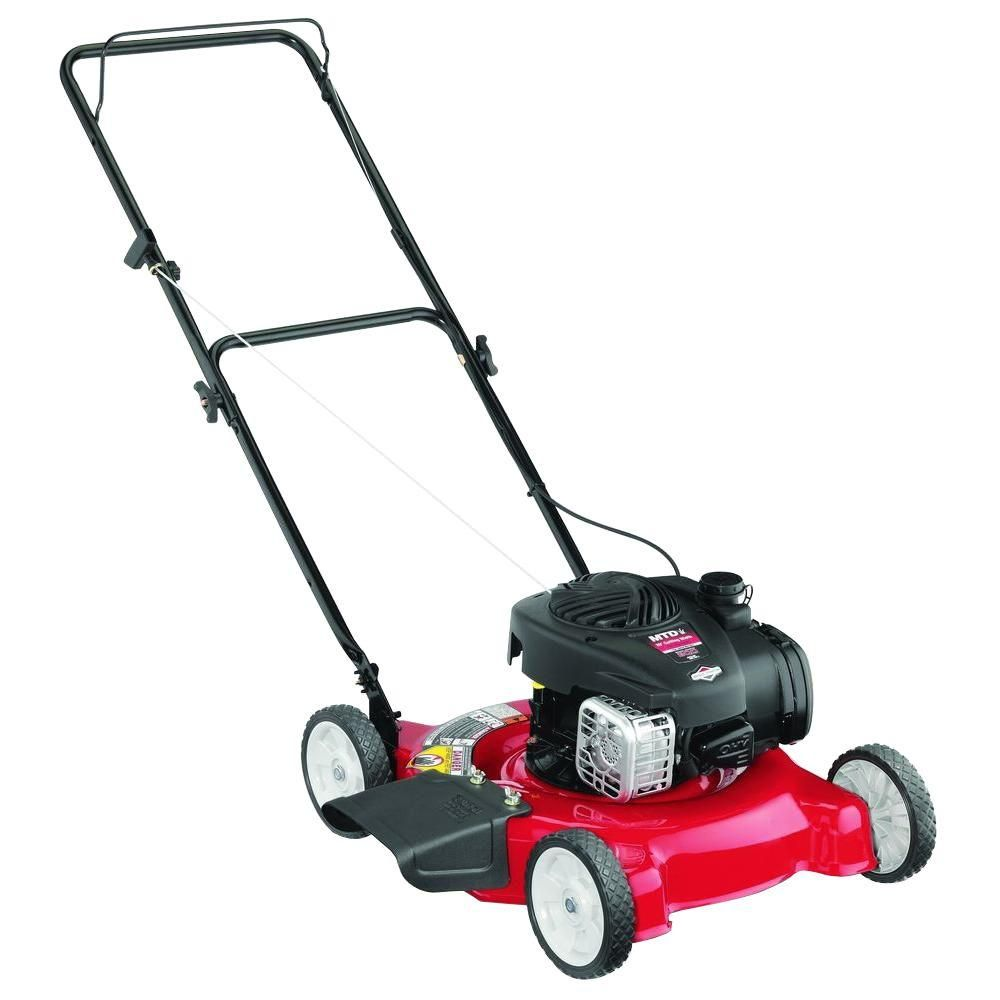 Mtd Mtd 20 In 125cc Ohv Briggs Stratton Walk Behind Gas Push Mower 11a 02bt706 The Home Depot Push Lawn Mower Push Mower Lawn Mower