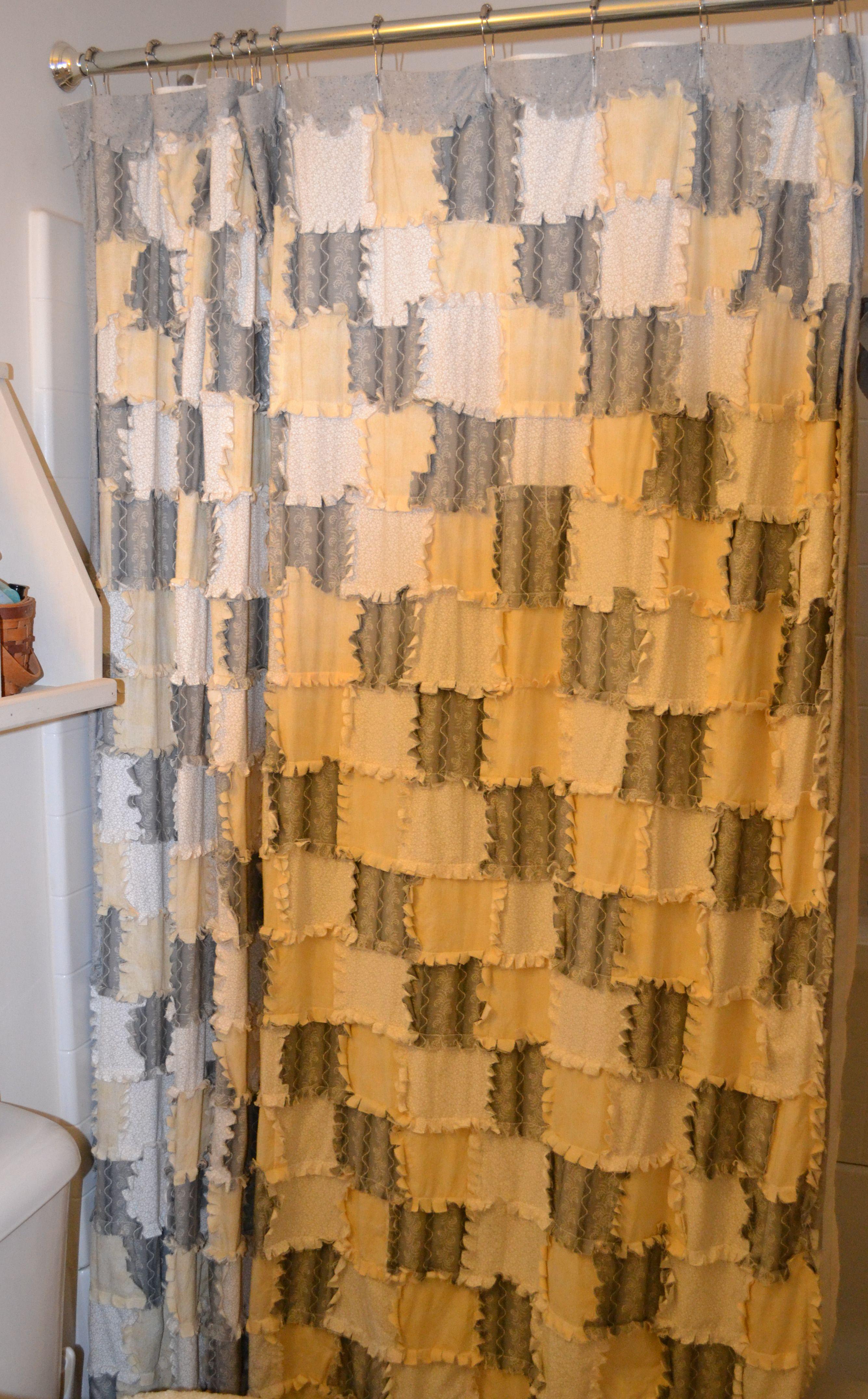 Reverse rag quilted shower curtain | Crafty - Quilt N Sew =D ... : rag quilt curtains - Adamdwight.com