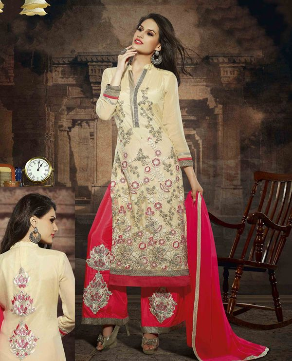http://www.istyle99.com/Salwar-Suit/LATEST-EMBROIDERED-DESIGNER-CREAM-AND-RED-STRAIGHT-SUITS-4186.html LATEST EMBROIDERED DESIGNER CREAM AND RED STRAIGHT SUITS -Rs 1762 BASE COLOUR : CREAM TOP FABRIC : FAUX GEORGETTE TOP COLOUR : CREAM & RED BOTTOM FABRIC : SANTOON BOTTOM COLOUR : RED DUPATTA FABRIC : CHIFFON DUPATTA COLOUR : RED INNER FABRIC : SANTOON INNER COLOUR : CREAM WORK : EMBROIDERY