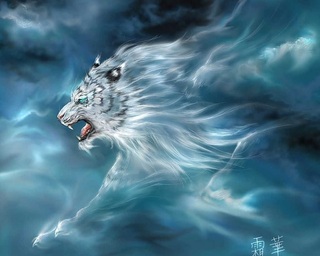 Cool White Tigers Wallpaper 1080p Mythological Creatures Mythical Creatures Tiger Wallpaper