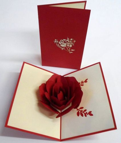 3d Rose Pop Up Greeting Cards Any Occasion Pop Up By Papyrusstore Pop Up Greeting Cards Birthday Card Pop Up Pop Up Flower Cards