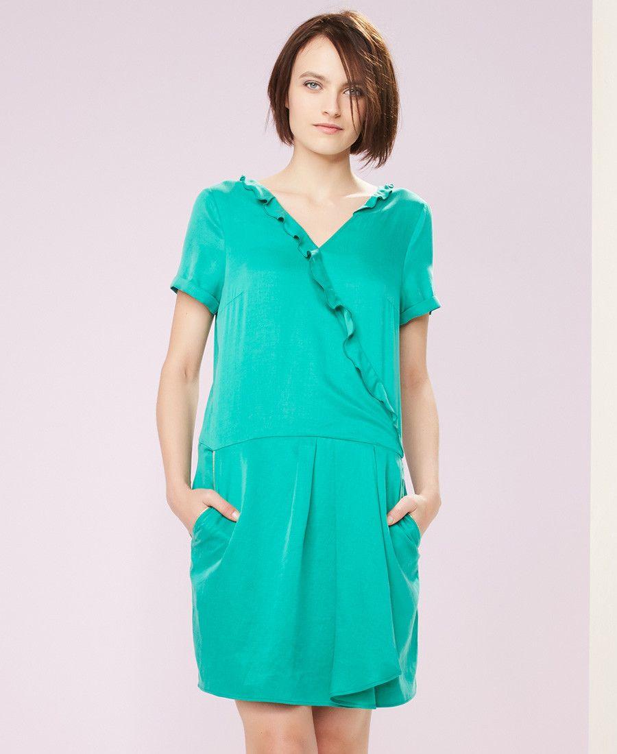 Naf naf robe cache coeur sans manches baby blue 1 | Idées