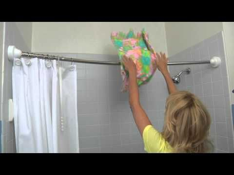 Give The Gift Of Space With The Rotator Rod This Holiday Season From Tradewindsimpts Rotator Rod The Curved Shower Rod The Bathroom Bliss Blog Shower Rod Clothes Line Shower Curtain Rods