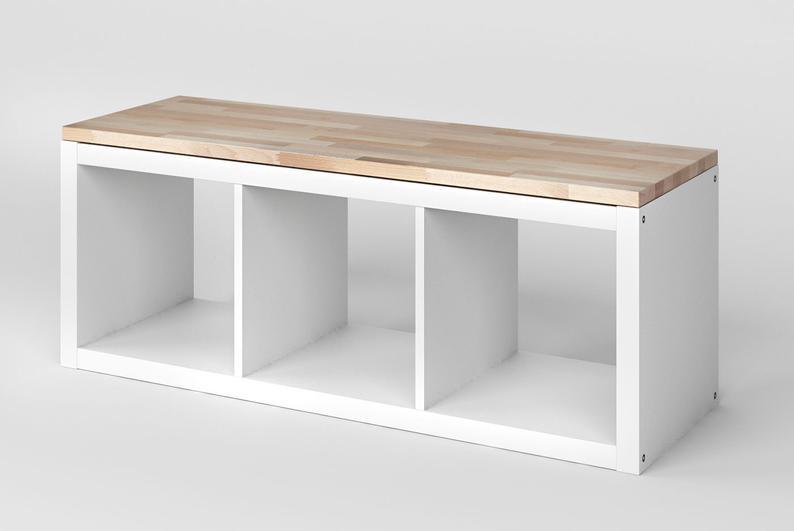 Kallax Beech Wood Panel  Solid Wood Top Plate for Ikea Kallax   Etsy