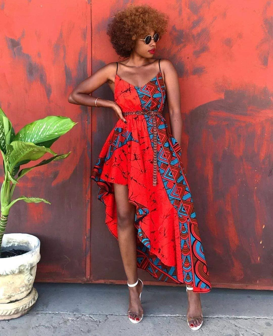 """African Fashion Wear on Instagram: """"We call this mood: Lady in Red 2.0 ��� what is your opinion on her dress? � Brand: @mangishidoll . . . #afw #mangishidoll…"""""""