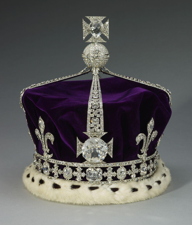 The crown of Queen Elizabeth, (later H.M. Queen Elizabeth