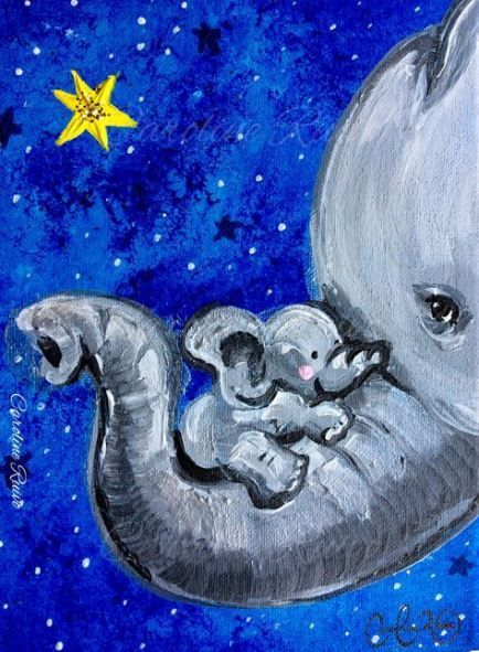 Painting Elephant Diy Canvases 30+ Ideas