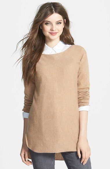 Halogen® High/Low Cashmere Tunic Sweater (Regular & Petite ...