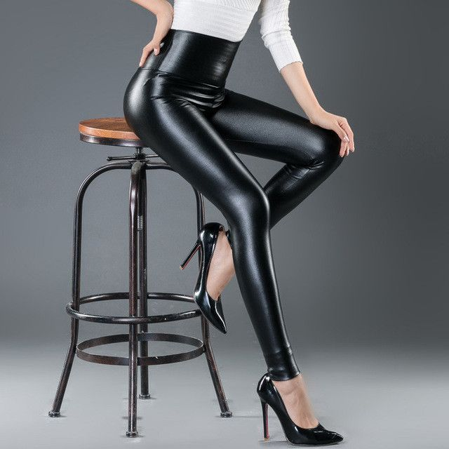 105f4d4261eeec women leggings faux leather high quality slim leggings plus size High  elasticity sexy pants leggins s-xl leather boots leggings
