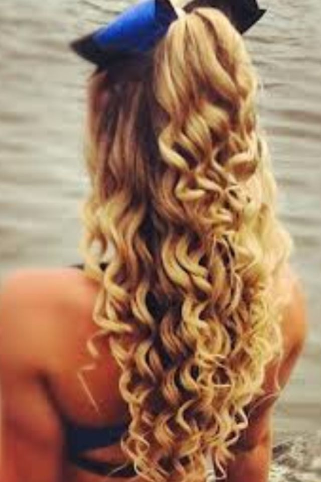 Cheerleader Hairstyles Custom Cheer Curls  Hair Styles  Pinterest  Cheer And Hair Style