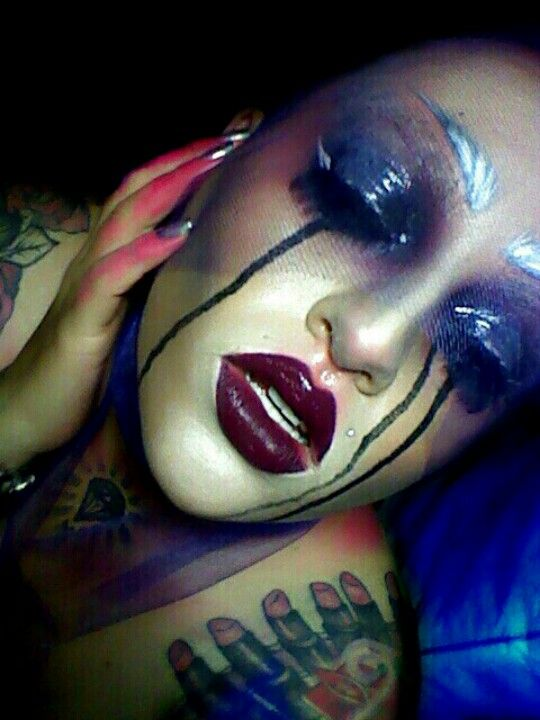 #makeup #glossyeyes #tears #lonely #lust #obsession #desarellano