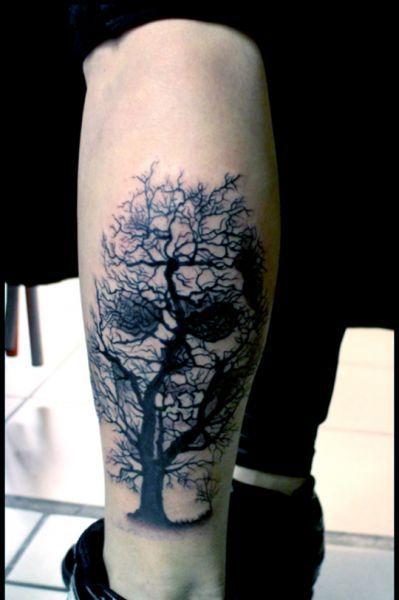 Tatuaże Czaszki Na łydce Tatuaże Tatuaże Czaszki I Tatuaż