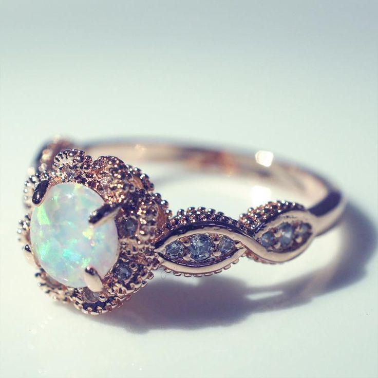 Lovely Rose Gold Ring lovely rose gold opal ring