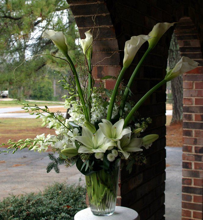 Flower Arrangement For Church Wedding: Large Arrangement For Church