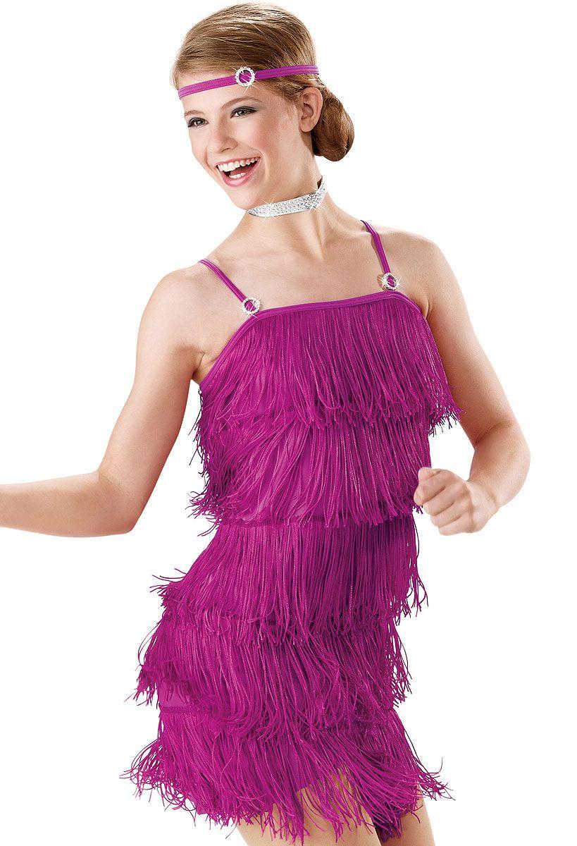 Jazzy Fringe Camisole Dress; Weissman Costumes | Dance | Pinterest ...