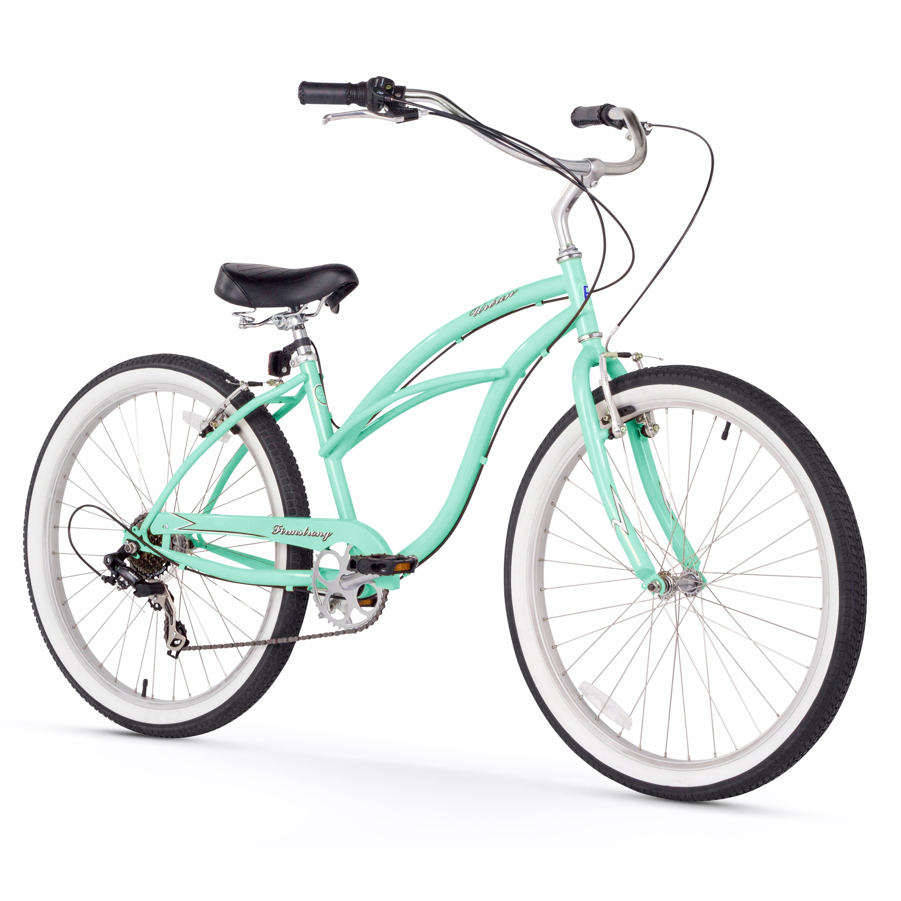 26 inch firmstrong urban lady seven speed women s beach cruiser bike vanilla beige