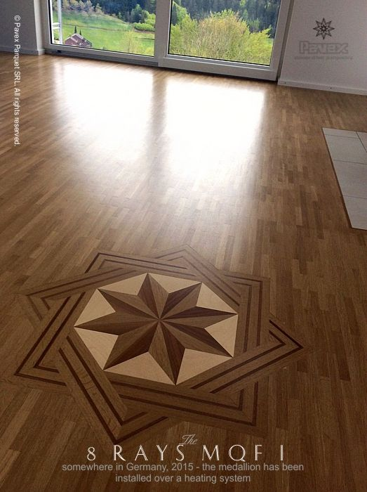 The 8 Rays Mqf I Hardwood Floor Medallion An Installation Over A In